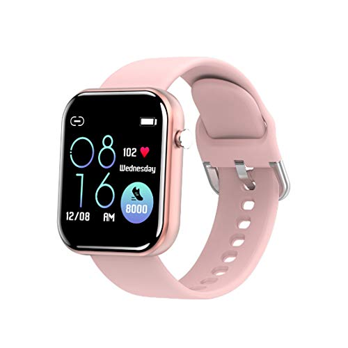 Reloj inteligente Reloj deportivo con pantalla táctil completa con GPS Rastreador de ejercicios Cronómetro impermeable 5ATM para hombres Mujeres Compatible con iPhone Teléfono Android (1.54 inch,pink)
