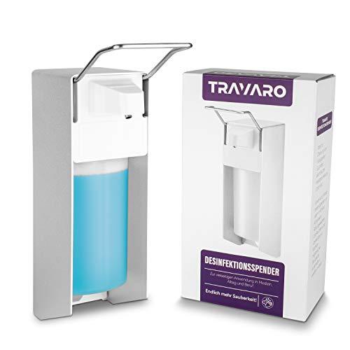 MTRUE Travaro Desinfektionsmittel Spender 500ml I Desinfektionsspender mit Schrauben zur Wandmontage I Eurospender Seifenspender inklusive Leerflasche