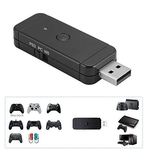 Maikiki New Adaptador de Controlador inalámbrico para Xbox / PS5 / PS4 / Adaptador de Controlador para Nintendo Switch PS3 y PC con Windows