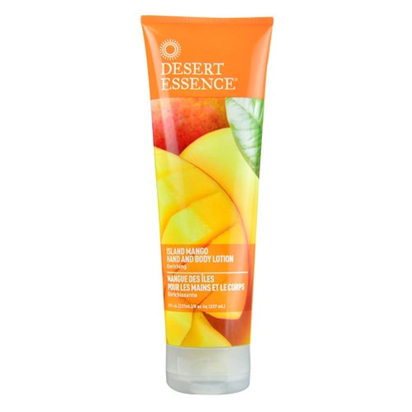 一次ケント実証するDesert Essence, Hand and Body Lotion, Island Mango, 8 fl oz (237 ml)