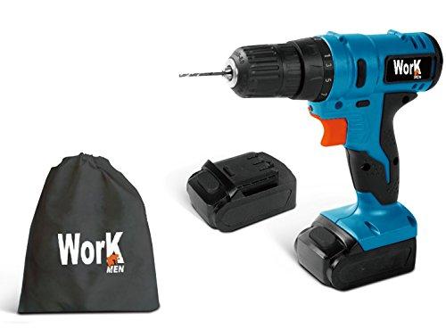 Workmen wmprt12 – 1302bag taladro atornillador, 12 V, azul