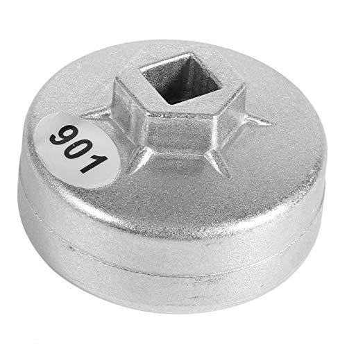 Lsaardth Llave de Filtro de Aceite de Tapa - 65 mm 14 Flautas Llave de Filtro de Aceite de Tapa Herramienta de eliminación de enchufes de Coche para Toyota A8