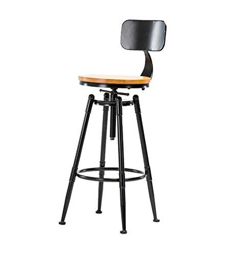 Tabouret haut Cuisines de bar Chaise de salle à manger Tabouret de petit déjeuner | Tabouret de bar noir rotatif | Chaise de bureau pivotante Vintage Leisure Retro Design industriel