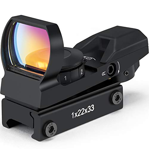 Red Dot Sight Gun Sights for Rifle Shotgun Pistol Reflex Sight with 4 Switchable Reticle & 20mm Standard Picatinny Rail Mount