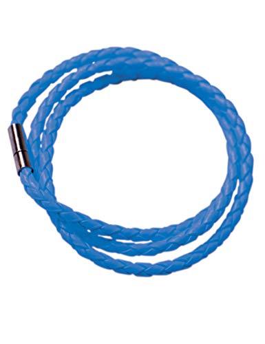 Party Pro armband gevlochten Eén maat Blauw