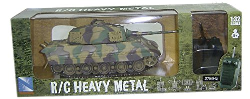 "NewRay 87573 - Ferngesteuerter Modell-Panzer \""King Tiger Heavy Metal\"" 1:32"