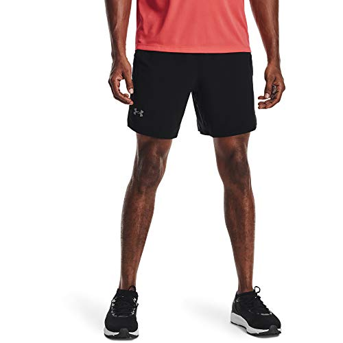 Under Armour Launch SW - Pantalones Cortos para Hombre (7'), Hombre, Pantalones Cortos, 1361493-001, Negro/Negro/Reflective (001), XXX-Large
