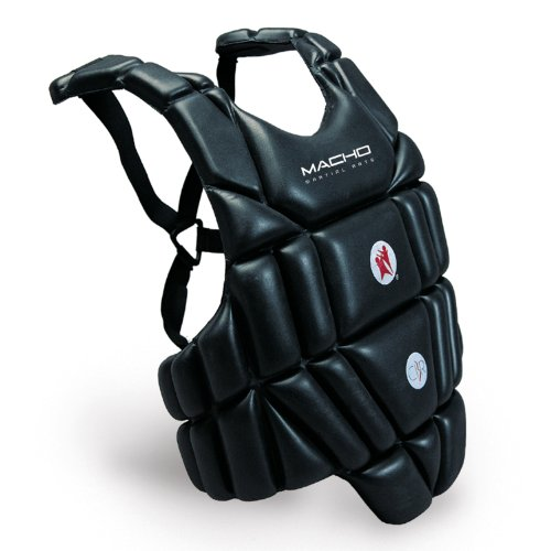 Macho Sports / Martial Arts Chest Protector - Black - Large