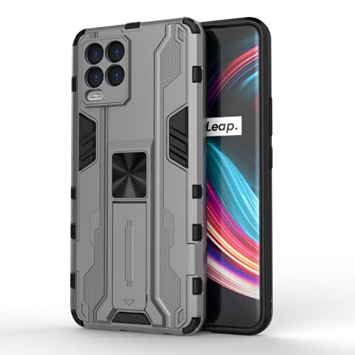 FTRONGRT Case for vivo Y73 2021, Rugged and Shockproof,with Mobile Phone Holder, with Car Magnetic Chuck, Cover for vivo Y73 2021 -Gray