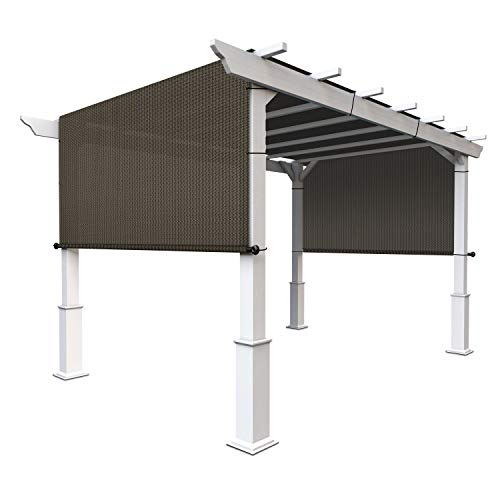 Coarbor Outdoor Pergola Replacement Cover Shade Canopy Permeable with Grommets Weight Rods 9'x16' Brown for Patio Deck Gazebo