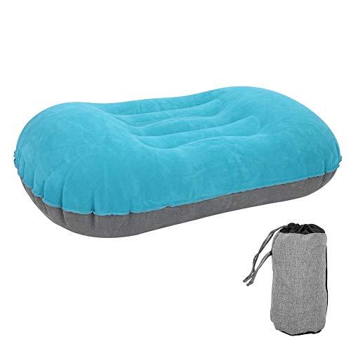 Dibiao Almohada inflable de apoyo lumbar de la espalda almohada inflable portátil almohada de viaje para acampar senderismo mochila