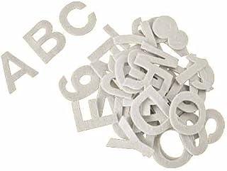 Alfabeto letras autoadhesivas de fieltro acrílico, aprox. 5 cm, blanco - kit de