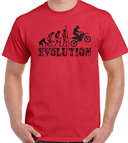 Kanyeah Motocross-T-Shirt für Herren, lustiges Motox, MX, Motorrad, Biker Gr. XXL, rot