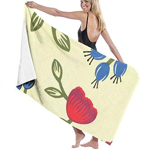 Toallas Shower Towels Beach Towels Bathroom Towels Toalla De Baño Toallas de baño de viaje con patrón retro de Frower Toalla 130 x 80 CM