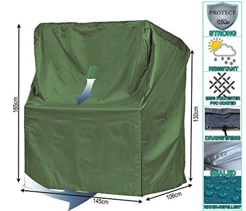 QUICK STAR Schutzhülle Strandkorb XL 145x106x165 cm Strandkorbhülle Abdeckung Grün