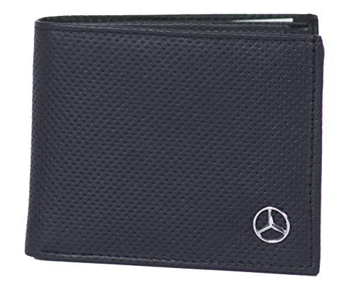 Mercedes Geldbörse Brieftasche Portemonnaie Schwarz Echtes Leder DP2