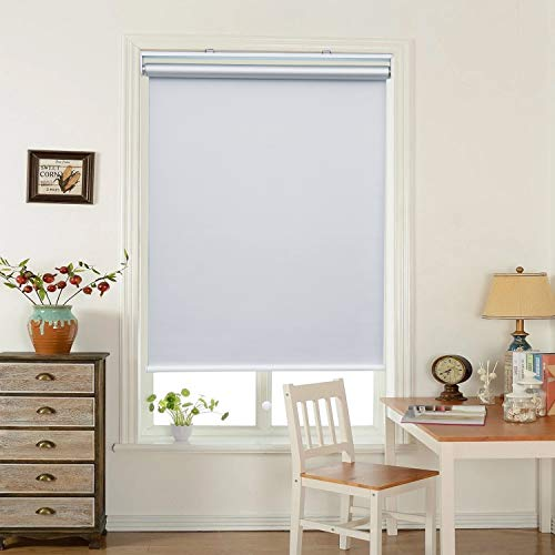 HOMEDEMO Window Blinds and Shades Blackout Roller Shades Cordless and Room Darkening Blinds White 48