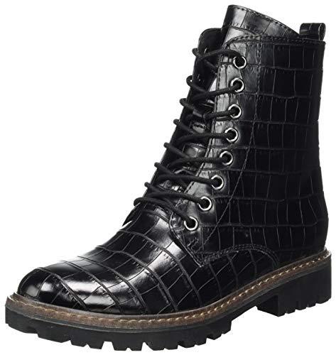 MARCO TOZZI Damen 2-2-25233-35 Stiefelette, Black Croco, 38 EU