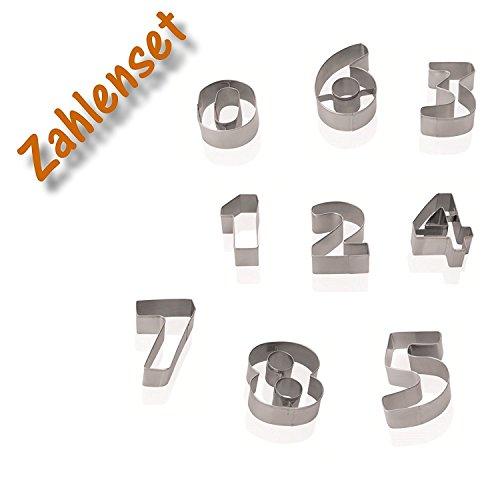 Kerafactum® uitsteekvormen uitsteekvormen voor bakken of knutselen – cijfers van 1 tot 9 als cijferset Cookie Cutter Series