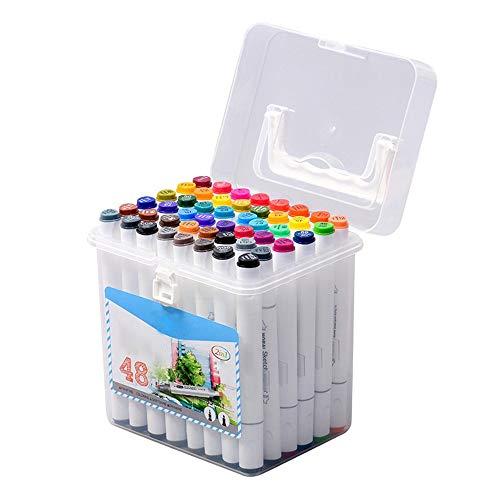HXiaDyG Marcadores Encabezado de Doble rotulador de Pintura a Mano Regalos del Artista Rotuladores for niños Kids rotuladores Set para Dibujar Dibujar Colorear (Color : White, Size : 12)