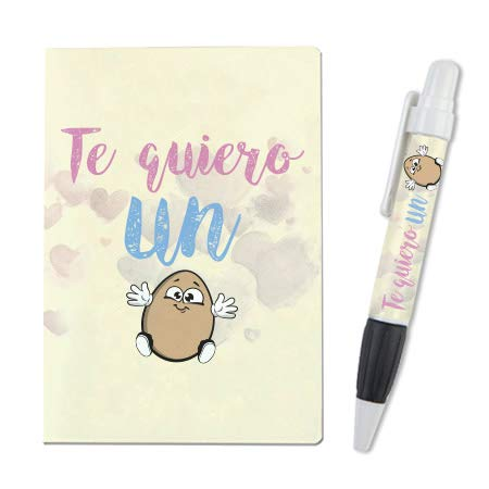 """Libreta A-6 + Boli""""Te quiero un huevo"""" mundohuevo"""