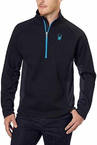 Spyder Outbound 1/2 Zip Midweight Core XXL Men's Sweater Jacket BLK/BLK Blue Trim