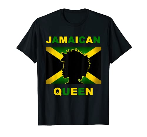 Camiseta de la reina jamaicana para mujeres orgullosas e independientes Camiseta