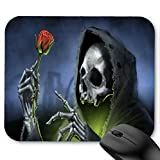 Skull Reaper Rose Death Skeleton Mouse Pad