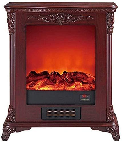 XYSQWZ Llama Móvil con Estufa De Leña Protección Independiente contra Sobrecalentamiento De Calefacción Diseño Panorámico De Alto Rendimiento De 1500 W