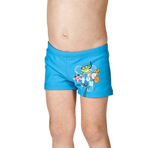 arena Jungen Sonnenschutz Badehose kurz (Schnelltrocknend, UV-Schutz UPF 50+, Chlor-/Salzwasserbeständig), Turquoise (801), 110