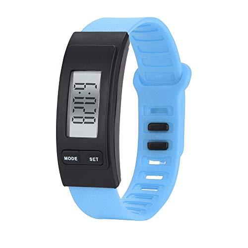 jiushixw Run Step Uhr Armband Schrittzähler Kalorienzähler Digital LCD zu Fuß Günstige Casual Sport Armbanduhr 2018 HK & 50