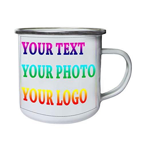 Personalizado personalizado personalizado impreso cualquier texto imagen logotipo Retro, lata, taza del esmalte 10oz/280ml T-Enamele