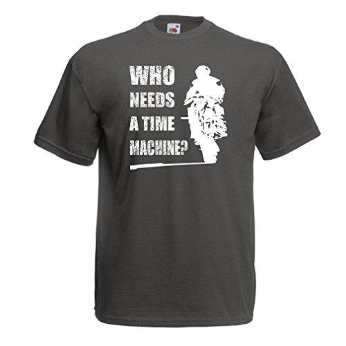 lepni.me T-Shirt da Uomo Abbigliamento Moto (X-Large Grafite Multicolore)