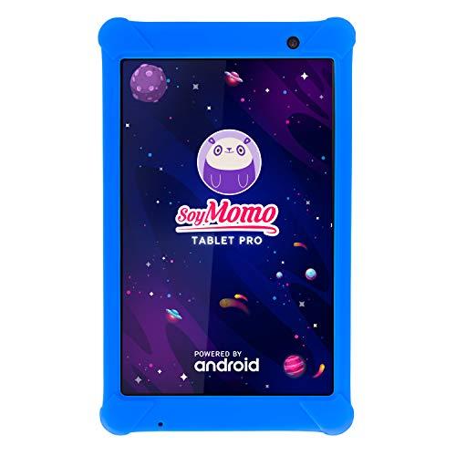 SoyMomo Tablet PRO - Tablet infantil con Control Parental e Inteligencia Artificial | Tablet para niños con Wifi Bluetooth 8 Pulgadas 32GB Almacenamiento 2GB RAM Cámara | Tablet niños con Funda (Azul)