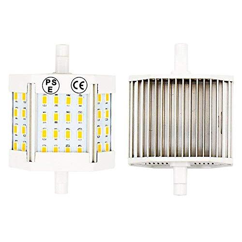 Bonlux R7s LED Lampe Birne 10W 78MM 220V Warmweiß 3000K Ersatz 100W Halogenlampe T3 Form Maislampe Baustrahler 200° Abstrahlwinkel Stablampen für Wohnbereichen(2-Stück, Nicht Dimmbar)