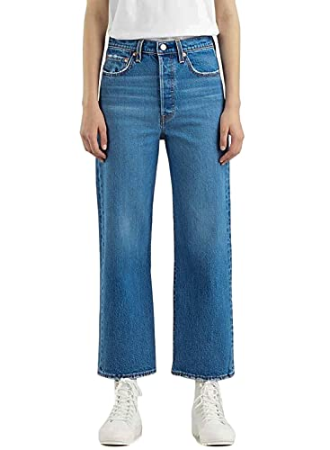 Levi's Ribcage Straight Ankle Jeans, Jazz Jive Together, 28W x 27L Femme