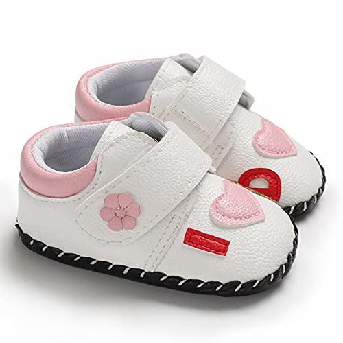 DBSUFV Zapatos de tacón Plano de Lona de Corte bajo de Goma para bebés, Zapatillas con Cordones