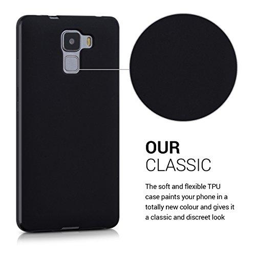 kwmobile Huawei Honor 7 / Honor 7 Premium Hülle - Handyhülle für Huawei Honor 7 / Honor 7 Premium - Handy Case in Schwarz matt - 3