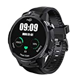 Fesjoy Awatch GT2 Smart Watch Android 7.1 LTE 4G SIM Card Orologio Digitale RAM3G ROM32G 5MP + 5MP Doppia Fotocamera 1.6 Pollici IPS Full-Touch Screen 400 * 400 Touch-Display BT4.0 Face ID Smart