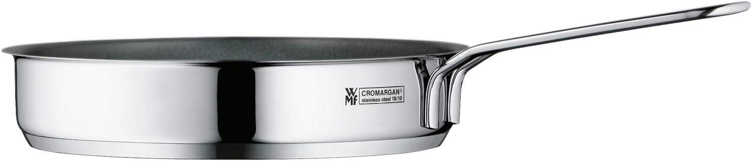 WMF Mini sartén con revestimiento de 18 cm, acero inoxidable Cromargan pulido, inducción, apilable, ideal para porciones pequeñas o presupuestos individuales