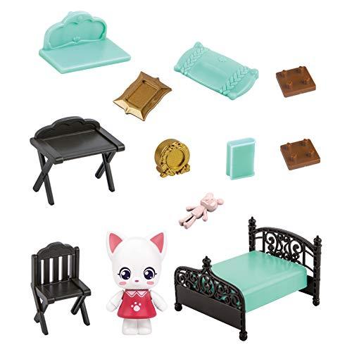 Yiwa Cartoon Kitty Simulation Kitchenware Pretend Game Ensemble de jouets pour enfants Chambre chaton