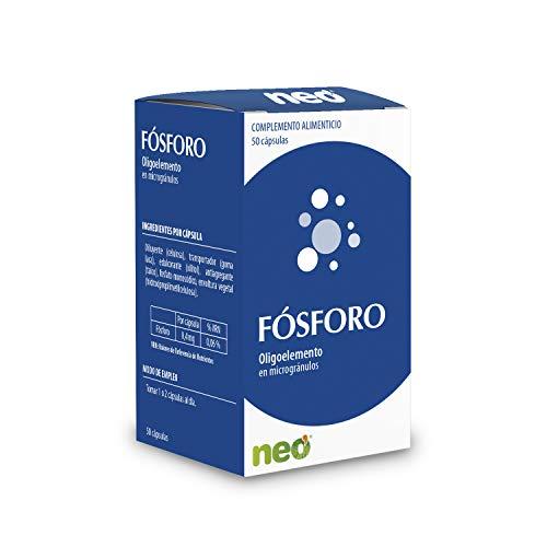 NEO | Fosforo - 50 Cápsulas | Complemento Alimenticio Para Reforzar Dientes y Huesos | Ayuda a la Conservación y Reparación de Células y Tejidos | Sin Gluten | Tomar 1 o 2 Cápsulas al Día