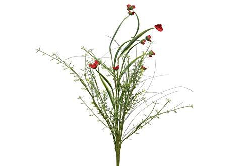 Kaemingk Ranunkelstrauß Kunstzweig Kunstblume Kunststrauß rot
