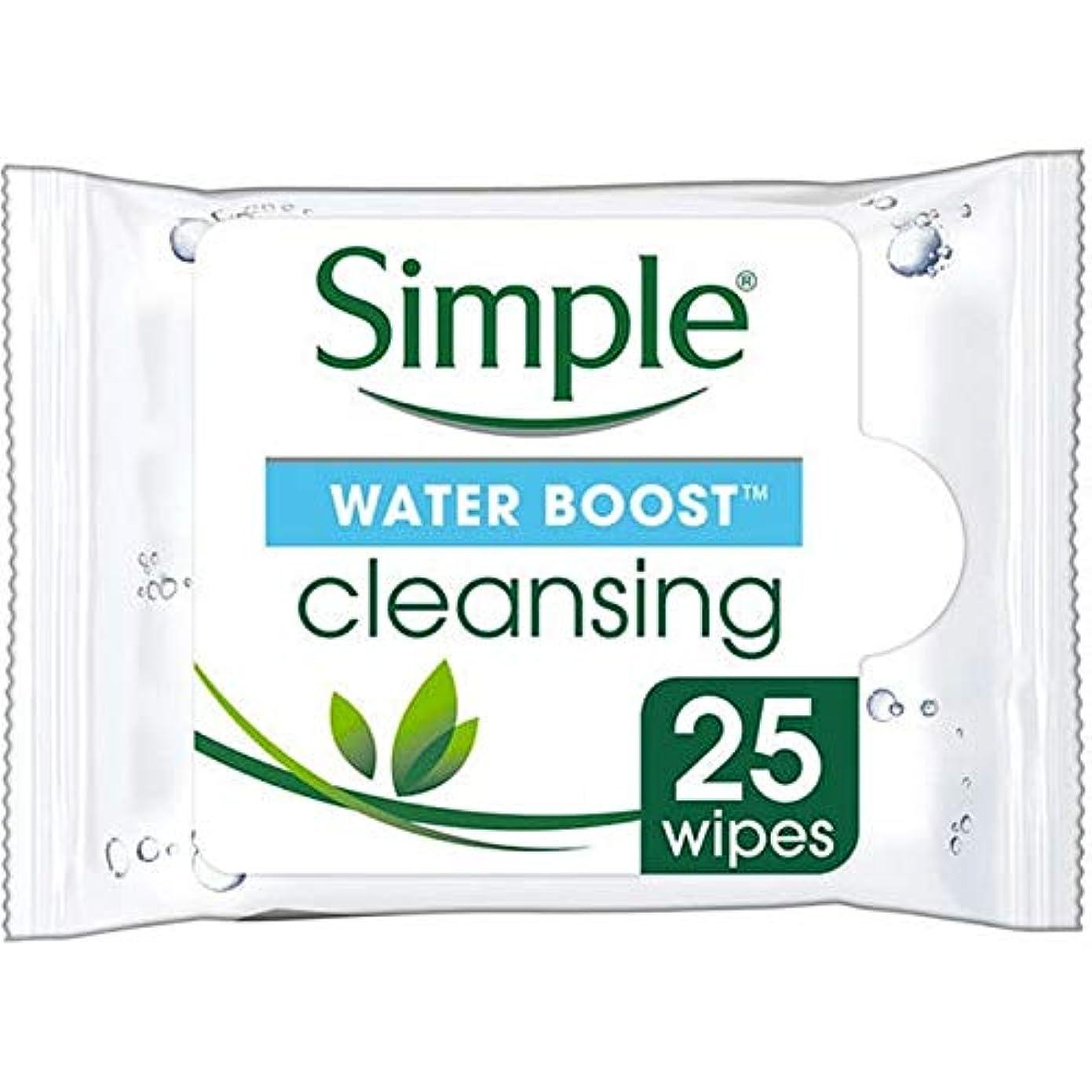 半径認可高揚した[Simple ] シンプルな水ブースト面はX25をワイプ - Simple Water Boost Face Wipes X25 [並行輸入品]