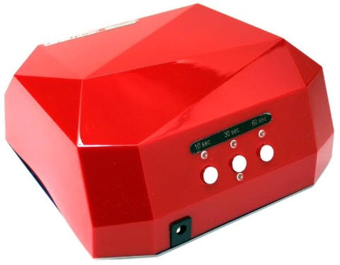 曲げるマウス警官【 LaCurie001】 CCFL & LED ライト の 36W ハイパワー ネイルライト 自動センサー搭載 プロ監修の日本語説明書と信頼の6か月保証書付き (レッド)