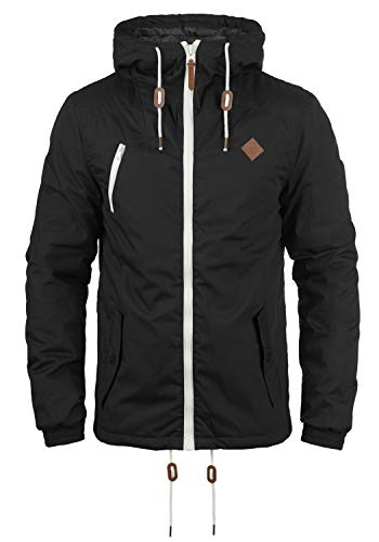 !Solid Tilden Herren Übergangsjacke Herrenjacke Jacke gefüttert mit Kapuze, Größe:3XL, Farbe:Black (9000)