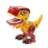 Kögler 90703 - Roboter Dino, Actionfigur mit Dinosaurier Geräuschen und leuchtenden Augen, ca. 12,5 x 6,5 x 11 cm groß, sortiert in 3 Farben, ideal als Geschenk für Jungen ab 3 Jahre