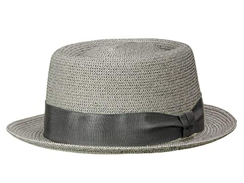 Bailey Chapeau Pork Pie Waits Homme - Gris L/58-59
