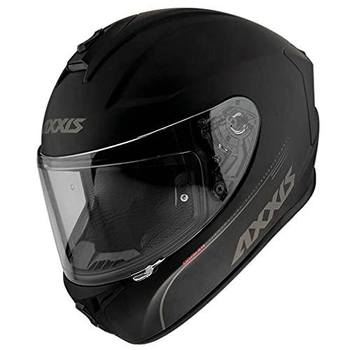 Casco de Moto Integral Axxis Color Negro Mate (M)