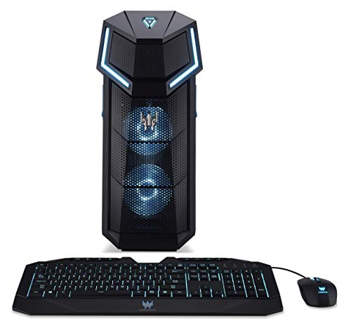 Acer Predator Orion 5000 PO5-610 Gaming PC - (Intel Core i7-9700K, 16GB RAM, 256GB SSD and 1TB HDD, Nvidia GeForce RTX 2060, DVD/RW, Predator Keyboard and Mouse, Windows 10, Black)